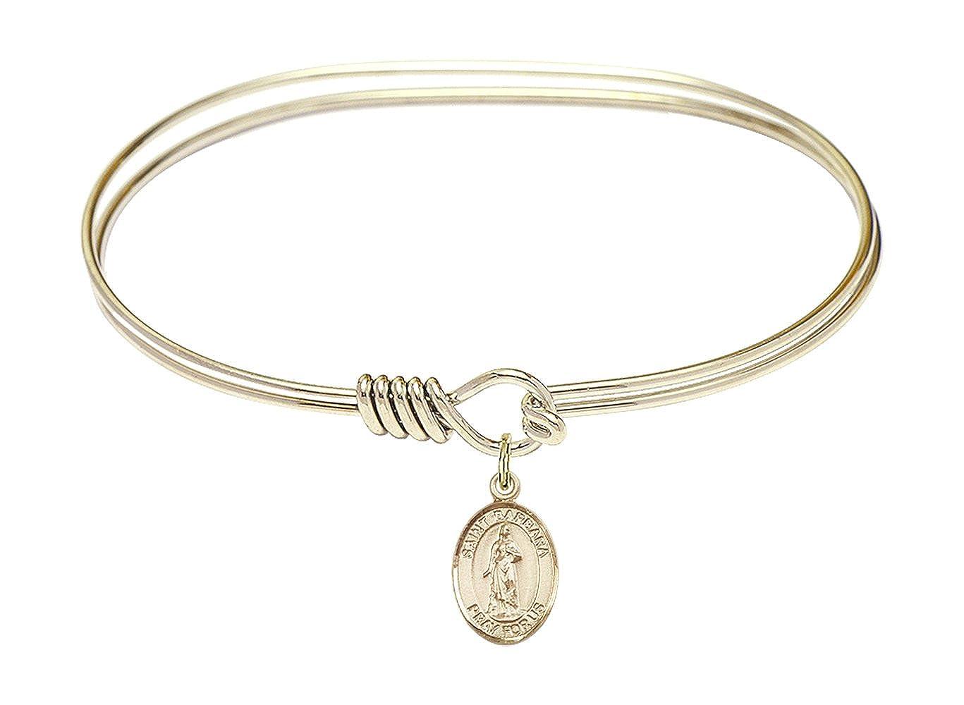 Barbara Charm. DiamondJewelryNY Eye Hook Bangle Bracelet with a St