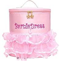 Girls Pink Dance Ballet Backpack Tutu Ballerina Dance Bags Lunch Bag for School with Golden Twin Zippers Hand Handle Sholder Strap HBP12