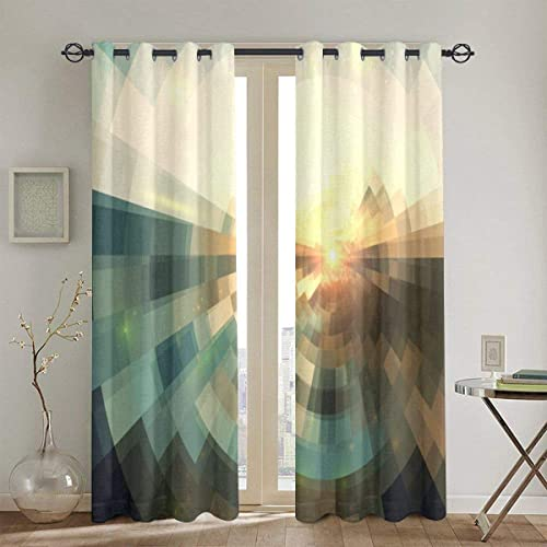 Best window curtain panel: okstore1988 Punch Curtains,Abstract,Blurred Squares