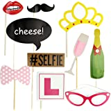 10Pcs Hen Party Photo Booth Props Kit Night Games Accessories Favors by AHG