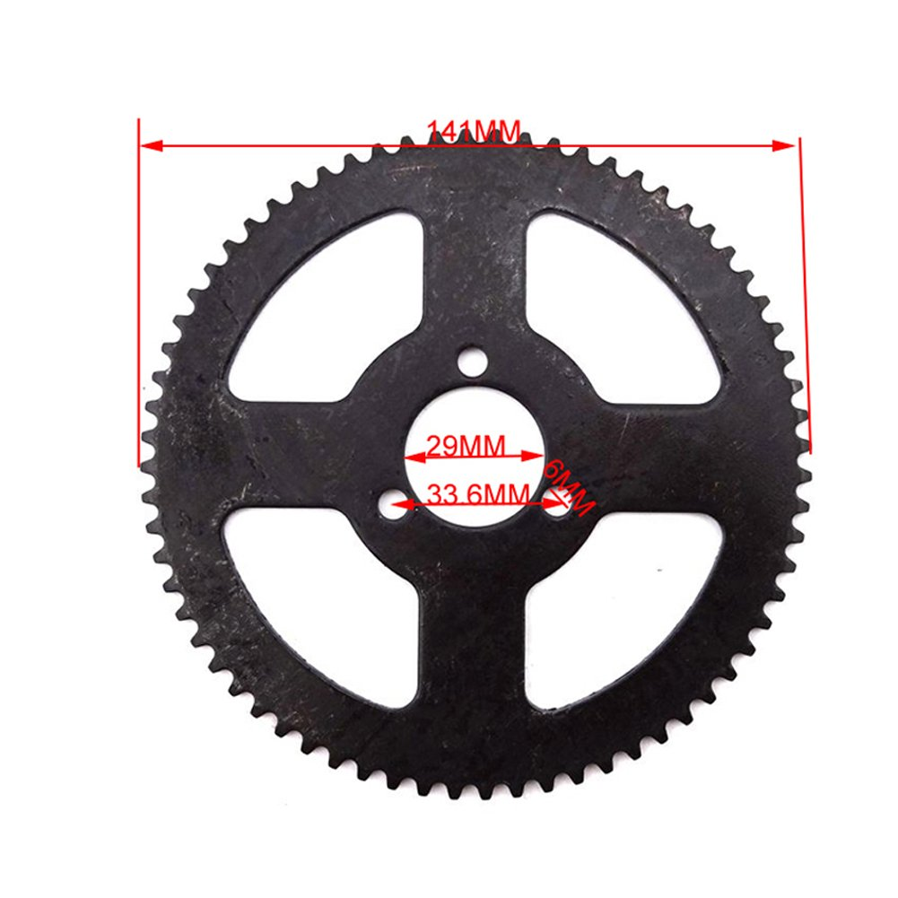 TC-Motor 29mm 68 Tooth 25H Rear Chain Sprocket For 47cc 49cc 2 Stroke Chinese Pocket Bike Goped Mini ATV Quad 4 Wheeler Scooter