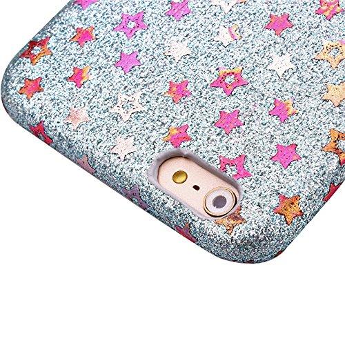 Smart protectors! texture premium coque de protection pour iPhone 6 & 6S-motif étoiles avec strass stuktur argent