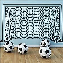 Aiwall KW31604 Wall Decal Vinyl Decor Art Wall Sticker Soccer Football Goal Net Ball Sports Home Decor Wall Mural paper art