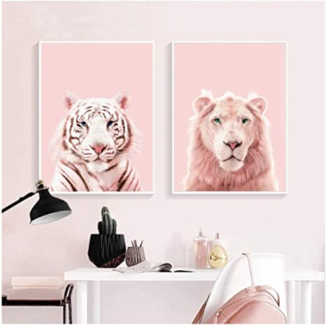 The Tiger Wall Art Home Decor Kid Room Print Canvas Modern Abstract Oil Painting