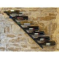 Scaffale per vini porta-bottiglie Diagon 100cm in metallo Supporto-bottiglie Scaffale a parete Bar