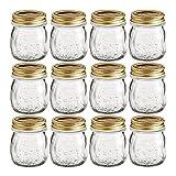 quattro jars - Bormioli Rocco Quattro Stagioni 8.5 Ounce Glass Jar With Lid, Set of 12