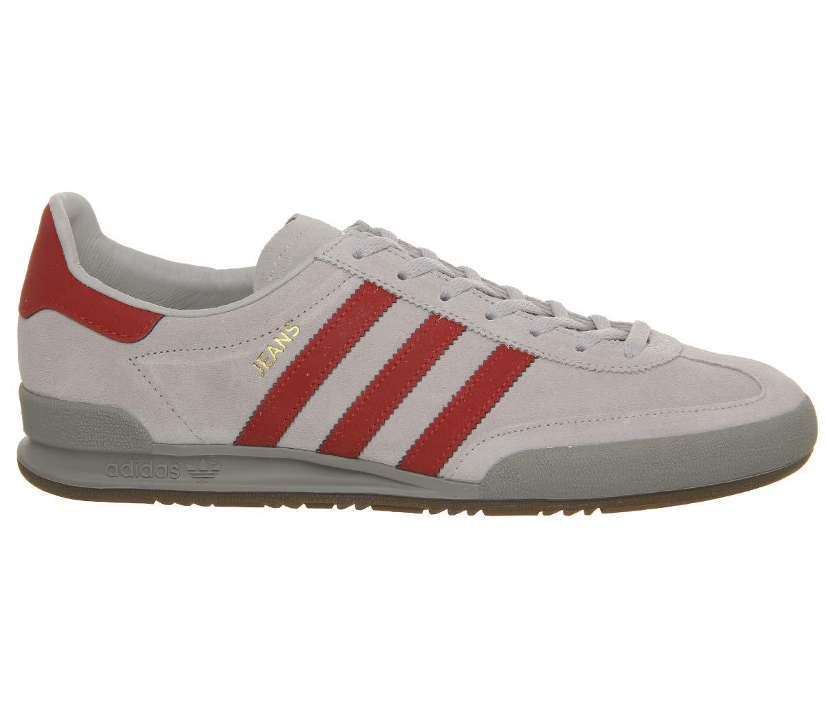 Adidas Originals Jeans Turnschuhe Herren hellgrau rot, 9.5 UK - 44 EU - 10 US