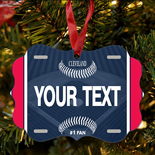 BRGiftShop Personalize Your Own Baseball Team Cleveland Christmas Tree Ornament
