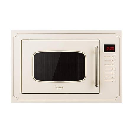 Klarstein Victoria 25 - Microondas , Diseño retro , 25 litros , Microondas de 900 W/Función grill de 1000 W , 2 modos predeterminados , Acero ...