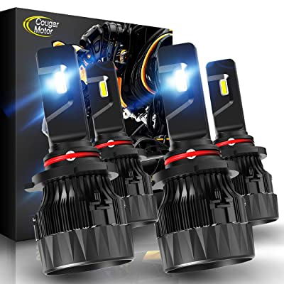 Cougar Motor X-Small 9005 + H11 LED Headlight Bulb, Combo (2 Sets) 10000Lm 6500K Conversion Kit - Cool White CREE: Automotive