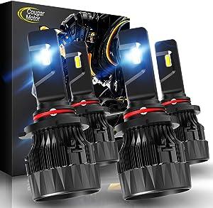 Cougar Motor X-Small 9005 + H11 LED Headlight Bulb, Combo (2 Sets) 10000Lm 6500K Conversion Kit - Cool White CREE