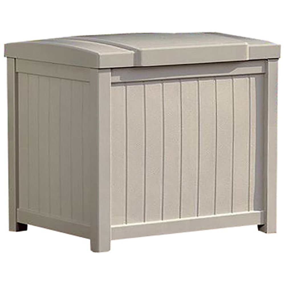 Cosmic Furniture Modern Style Light Taupe Small Storage Deck Box with Durable Long Lasting Resin Construction and Stay Dry Design for Patio and Garden Outdoor or Indoor Use by Cosmic Furniture (Image #2)
