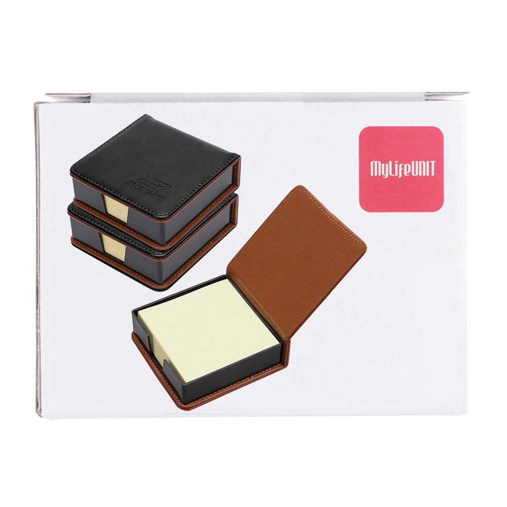 MyLifeUNIT Business Sticky Notes Holder with 3 x 3 inch Sticky Note, 3 Pack (Black) by MyLifeUNIT (Image #8)