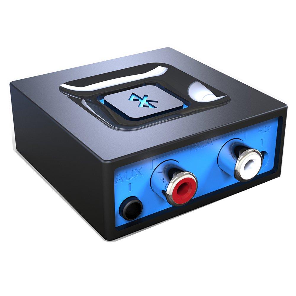 Der Bluetooth-Audioadapter fürs Musikstreaming-Soundsystem, Esinkin drahtloser Audioadapter arbeitet mit Smartphones und Tablets, Bluetooth-Empfänger für Lautsprecher product image