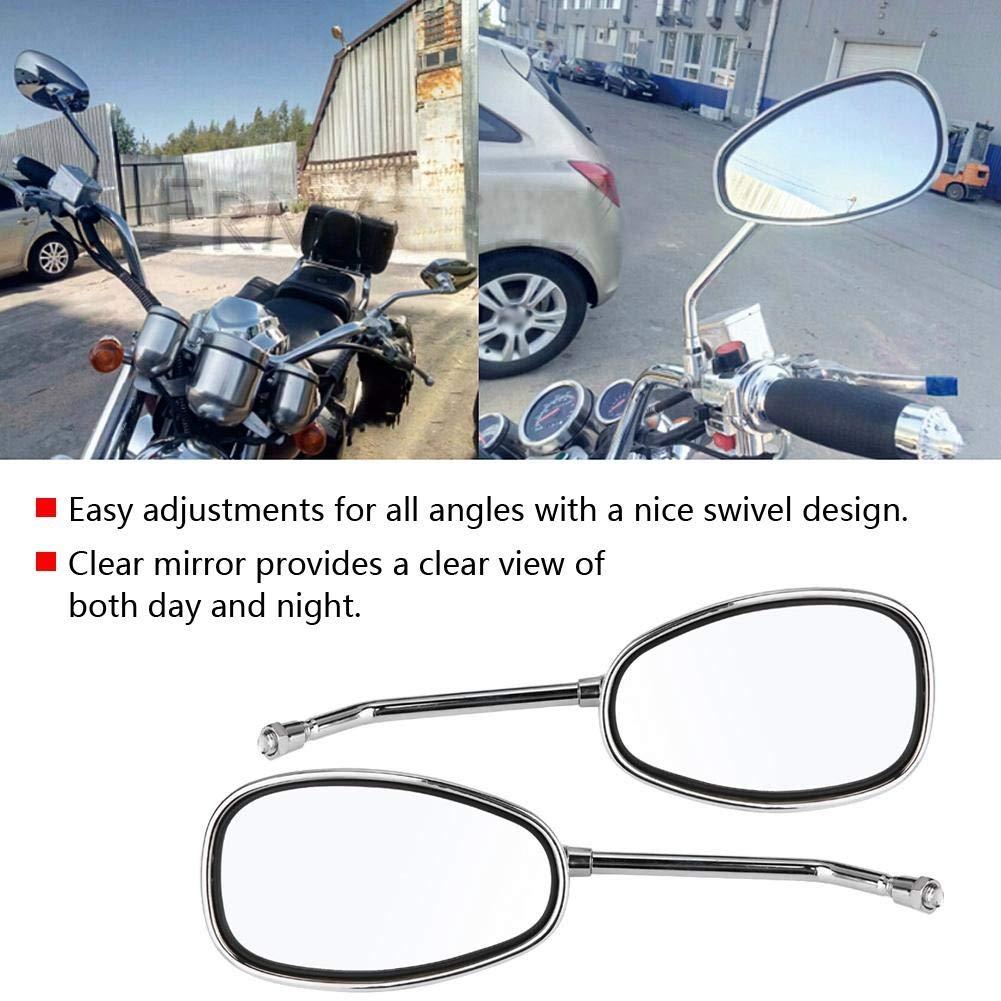 Espejo para motocicleta 2 piezas//Juego Motocicleta L-bar negro y R-Bar Retrovisor retrovisor lateral 10mm