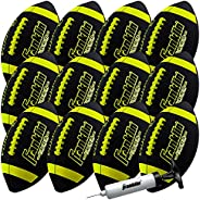 Franklin Sports Junior Size Football - Grip-Rite Youth Footballs - Extra Grip Synthetic Leather Perfect for Ki