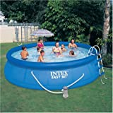INTEX 15' x 42'' Easy Set Pool Complete Kit with Pump, Cover & Ladder