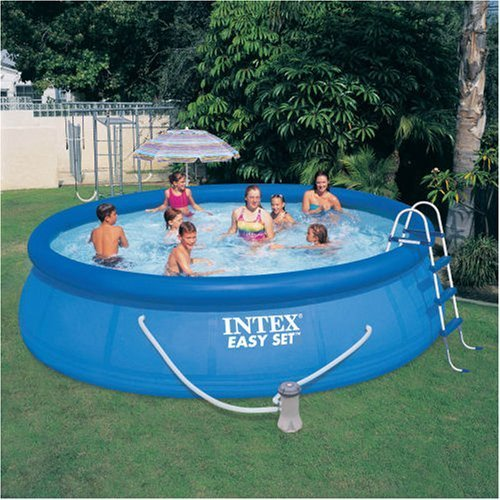 INTEX 15' x 42'' Easy Set Pool Complete Kit with Pump, Cover & Ladder by Intex