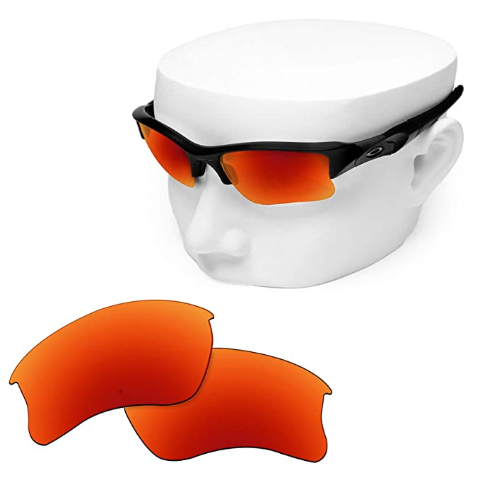 b6afe5febb1 Image Unavailable. Image not available for. Color  OOWLIT Replacement Lenses  Compatible with Oakley Flak Jacket XLJ Sunglass Fire Non-polarized