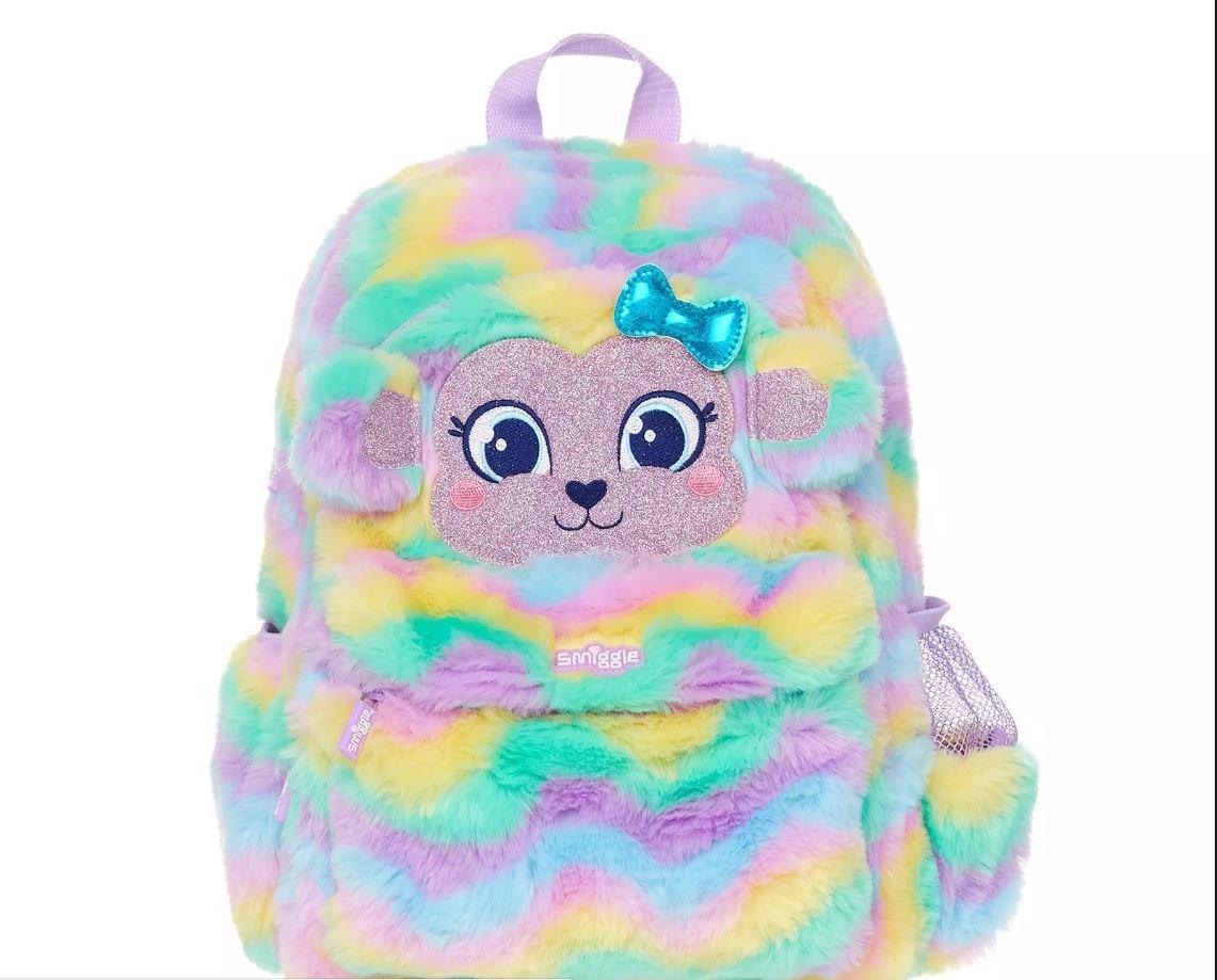 Smiggle fluffy swirl junior backpack  Amazon.co.uk  Luggage ffcbf0a59ab4b