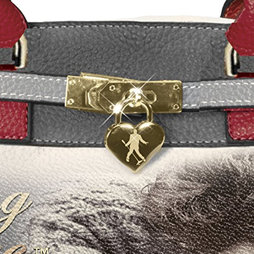 Black Burning and Leather Handbag 'Elvis Exchange Grey Elvis with Faux Red Bradford The Pebble Design Soft Love' fqUAx