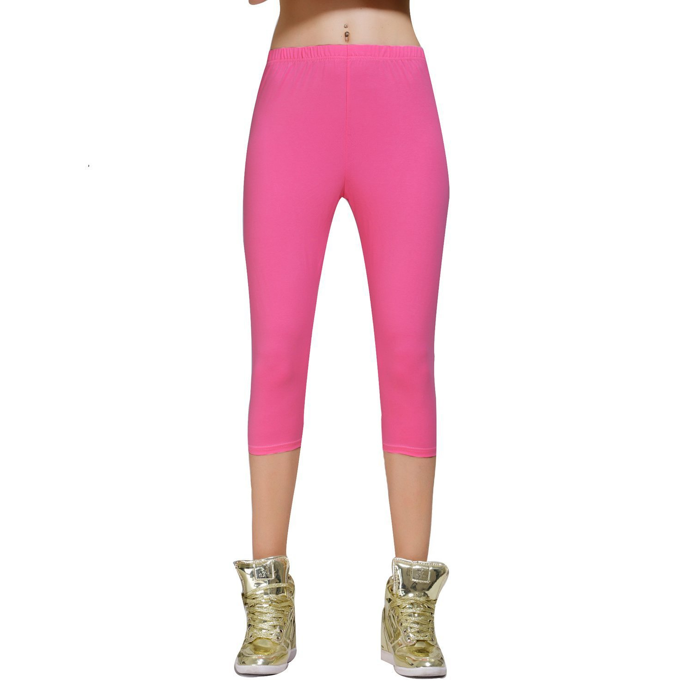 5af372ce895 DIAMONDKIT Stretch Cotton Capri Crop Leggings Tights at Amazon Women s  Clothing store