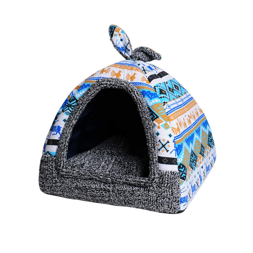D SKennel, Cat Litter Small Dogs Cats Four Seasons Pet Sleeping Bag Winter Warm One Nest Dualuse Removable and Washable (color   A, Size   M)