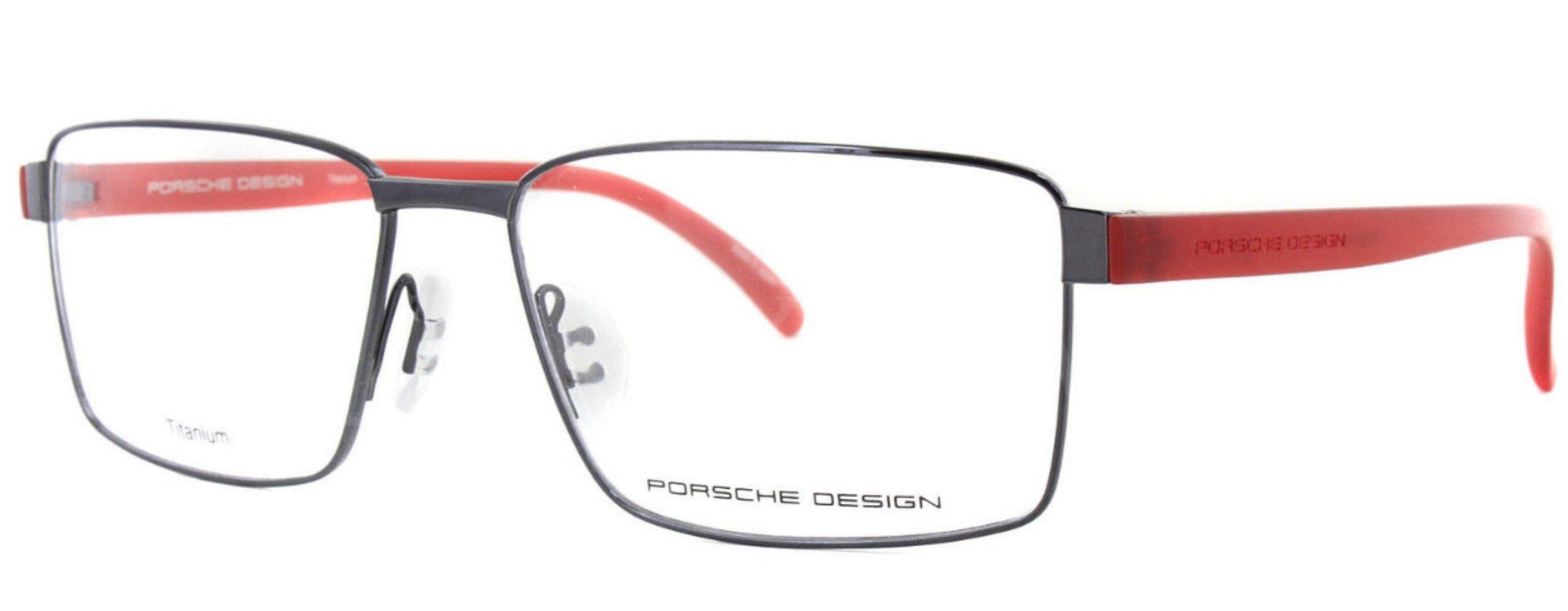 Men Eyeglasses Porsche Design Titanium P8271 Full Rim Rectangular (Dark Gun D, 55) by Porsche Design