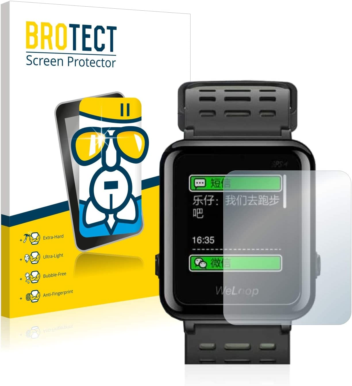 BROTECT Protector Pantalla Cristal Compatible con Omorc WeLoop Hey 3S Protector Pantalla Vidrio - Dureza Extrema, Anti-Huellas, AirGlass