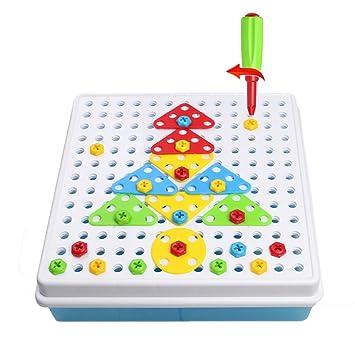 Tonze Construccion Figuras Puzzles Infantiles Figuras Geometricas Y