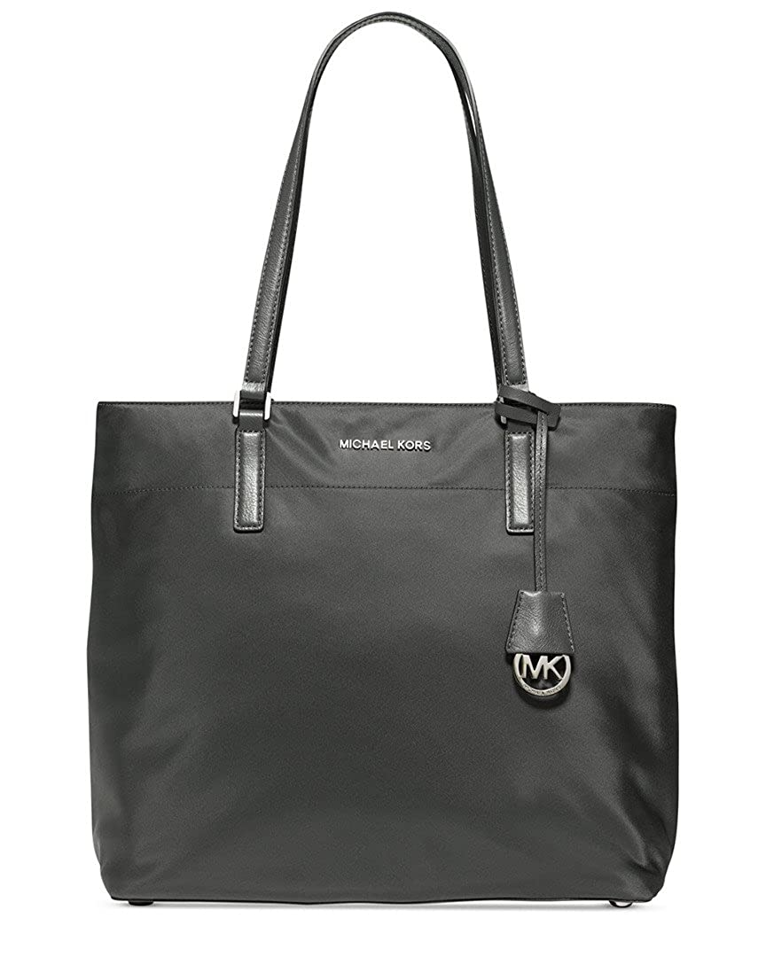 0fba2112bcece8 Amazon.com: Michael Kors Womens Morgan Faux Leather Trim Nylon Tote Handbag  Gray Large: Shoes
