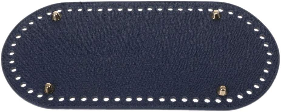 FATTERYU Ovale Longue Fond pour Sac /À Tricoter en Cuir PU 60 Trous Femmes Sacs /À La Main DIY Accessoires