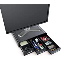 Mind Reader ' Perch' Pc Laptop iMac Monitor Stand and Desk Organizer, Black