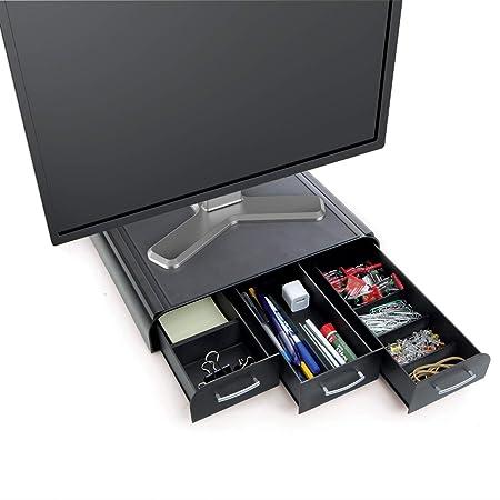 Scrivania Con Monitor A Scomparsa.Mind Reader Perch Pc Laptop Supporto Imac Monitor E Organizer Da