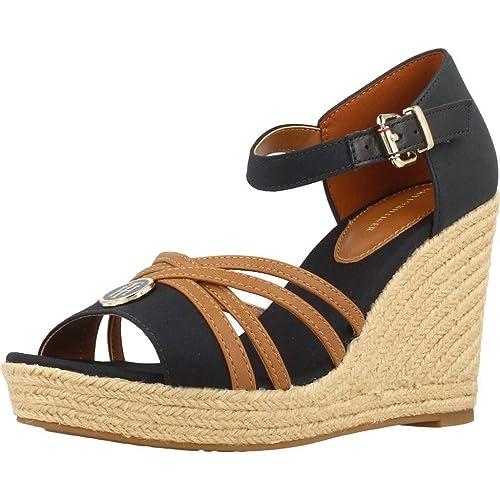 Alpargatas para Mujer, Color Azul, Marca Tommy Hilfiger, Modelo Alpargatas para Mujer Tommy Hilfiger FW0FW02425 Azul: Amazon.es: Zapatos y complementos