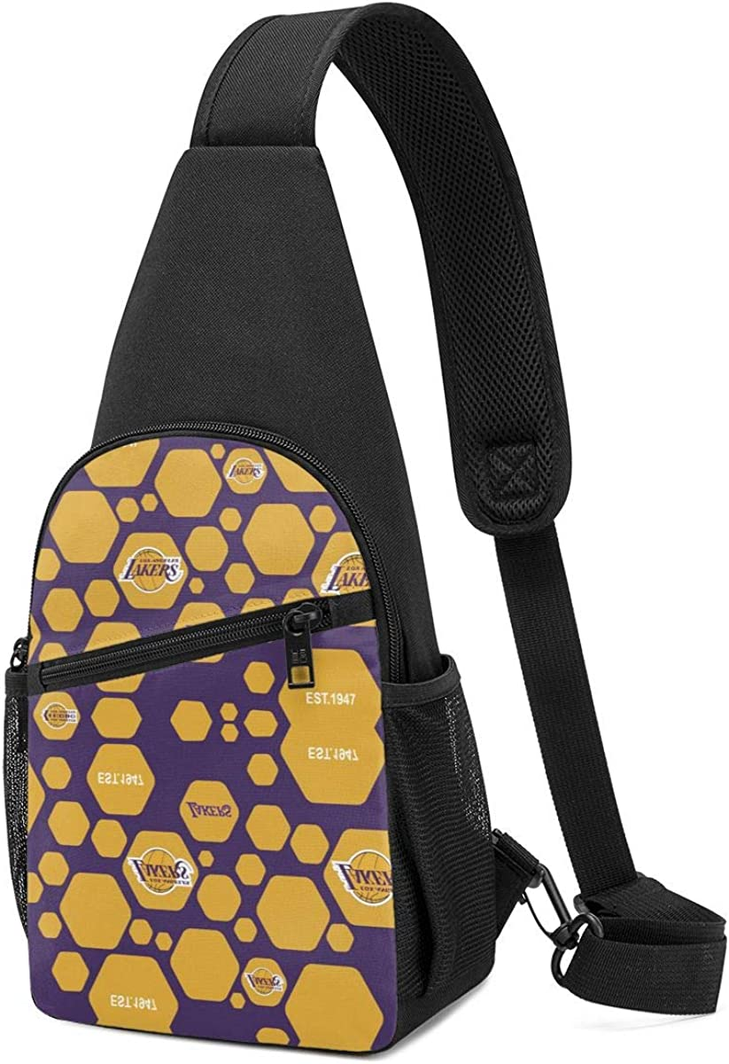 Rico Los Angeles Lakers Chest Shoulder Backpack Fanny Pack Crossbody Bags Crossbody Rope Triangle Rucksack