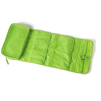 lumanuby Mode plegable Neceser Bolsa de aseo Toiletbag Bolsa de viaje para colgar para hombre y mujer Neceser para viajes verde verde