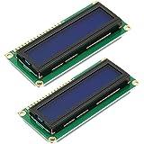 HiLetgo 2pcs DC3.3V HD44780 1602 16x2 Character LCD Display Adapter Module Blue Backlight for Arduino UNO R3 MEGA2560 Nano Du