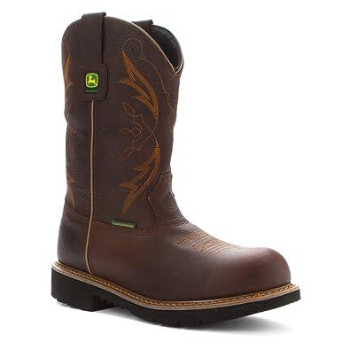 John Deere Men's Waterproof ... Steel-Toe Work Boots 3s6HN