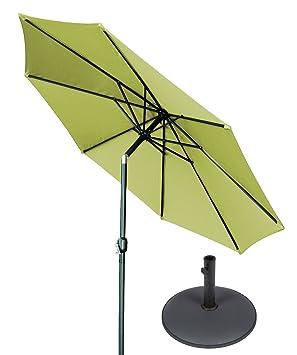 10 de inclinación con manivela Patio paraguas con Gray Base circular por marca innovaciones
