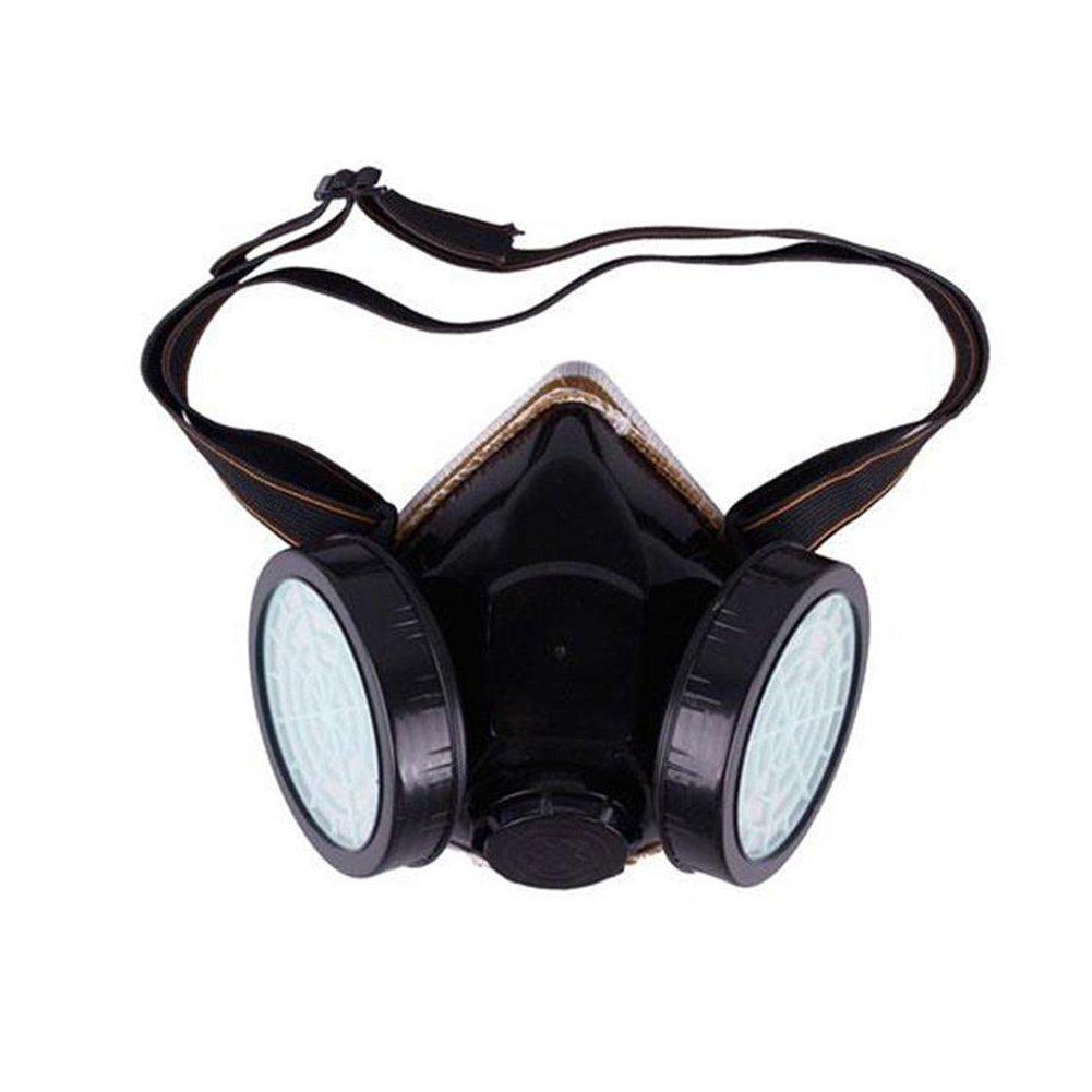 Antipolvo Spray químico Gas máscara de polvo Cartucho Industrial Mascarillas Respiradoras Seguridad Industrial Emergencia Seguridad Respiratoria Gas Máscara Doble Filtro de Protec
