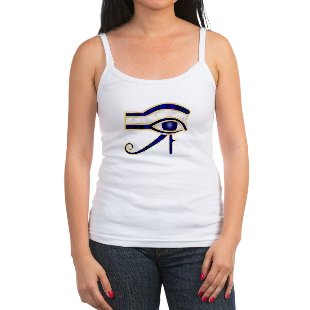 Spaghetti Tank Egyptian Eye Of Horus or Ra XL Truly Teague Jr White
