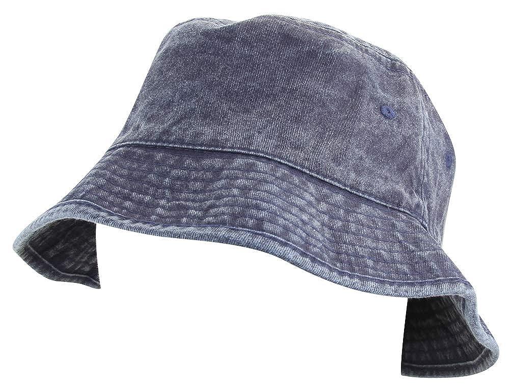 Minakolife Women Cotton Denim Washed Bucket Hat
