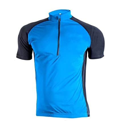 992d85c56 sponeed Cycle Jersey for Men Short Sleeve Wicking tshirt Biking CN M US S  Blue