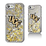 Keyscaper NCAA Central Florida Golden Knights UCF Dots Glitter Case for iPhone 8/7/6, Clear