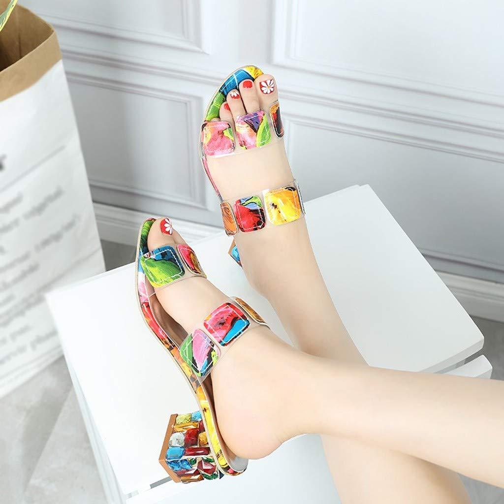 Ladies Pumps Non-Slip Bath Sandals,FAPIZI Rhinestone Foams Sole Pool Slippers Transparent Platform Shoes by FAPIZI Women Shoes (Image #4)