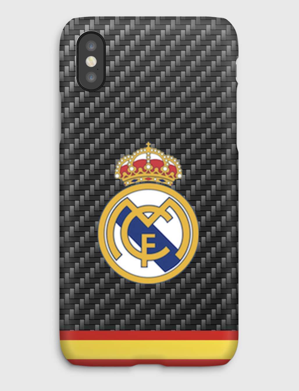 Real Madrid Club de Fútbol Funda para el iPhone XS, XS Max, XR, X, 8, 8+, 7, 7+, 6S, 6, 6S+, 6+, 5C, 5, 5S, 5SE, 4S, 4,