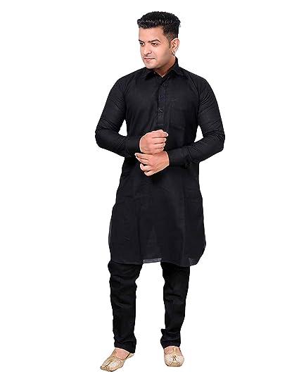 a0b99f5ada9 Slks India Craft Royal Men s Pathani Kurta Salwar Suit Cotton Blend ...