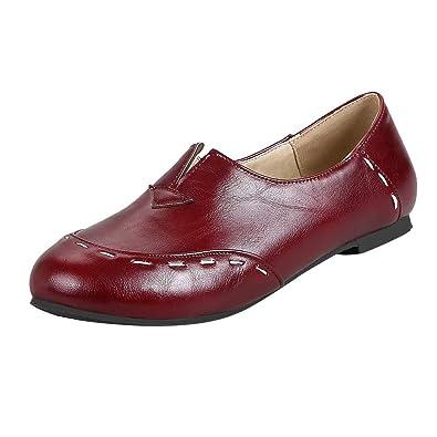 best website a8a03 fd672 Sommerschuhe Geschlossen Damen Leder Vintage Elegant Schuhe ...