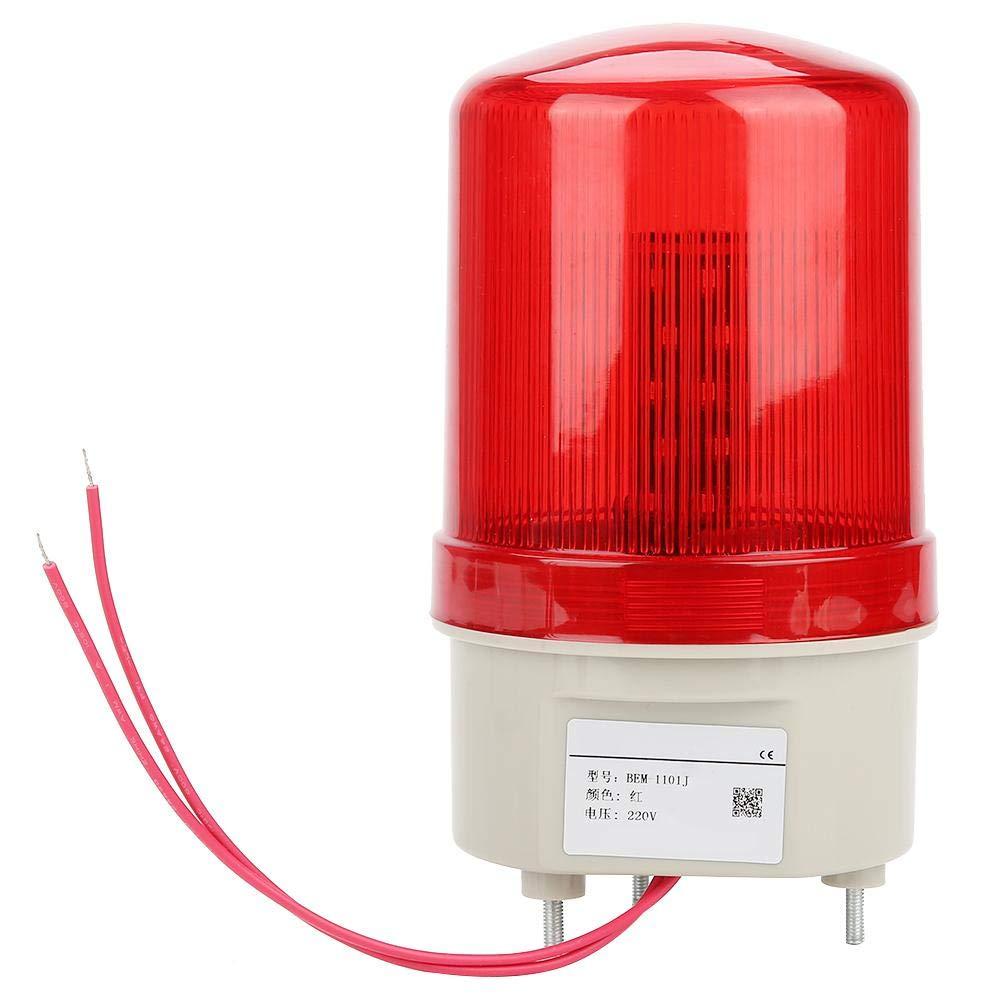 220V 20W Stroboscope de Secours de La Lumière LED Rouge d'Avertissement d'Alarme Rotative Voyant d'Alarme Acousto-Optique